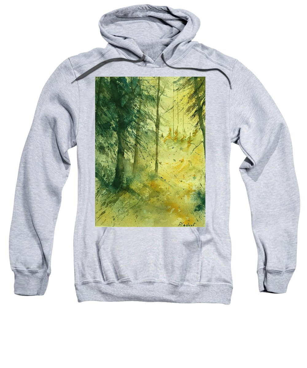 Tree Sweatshirt featuring the painting Watercolor 030106 by Pol Ledent