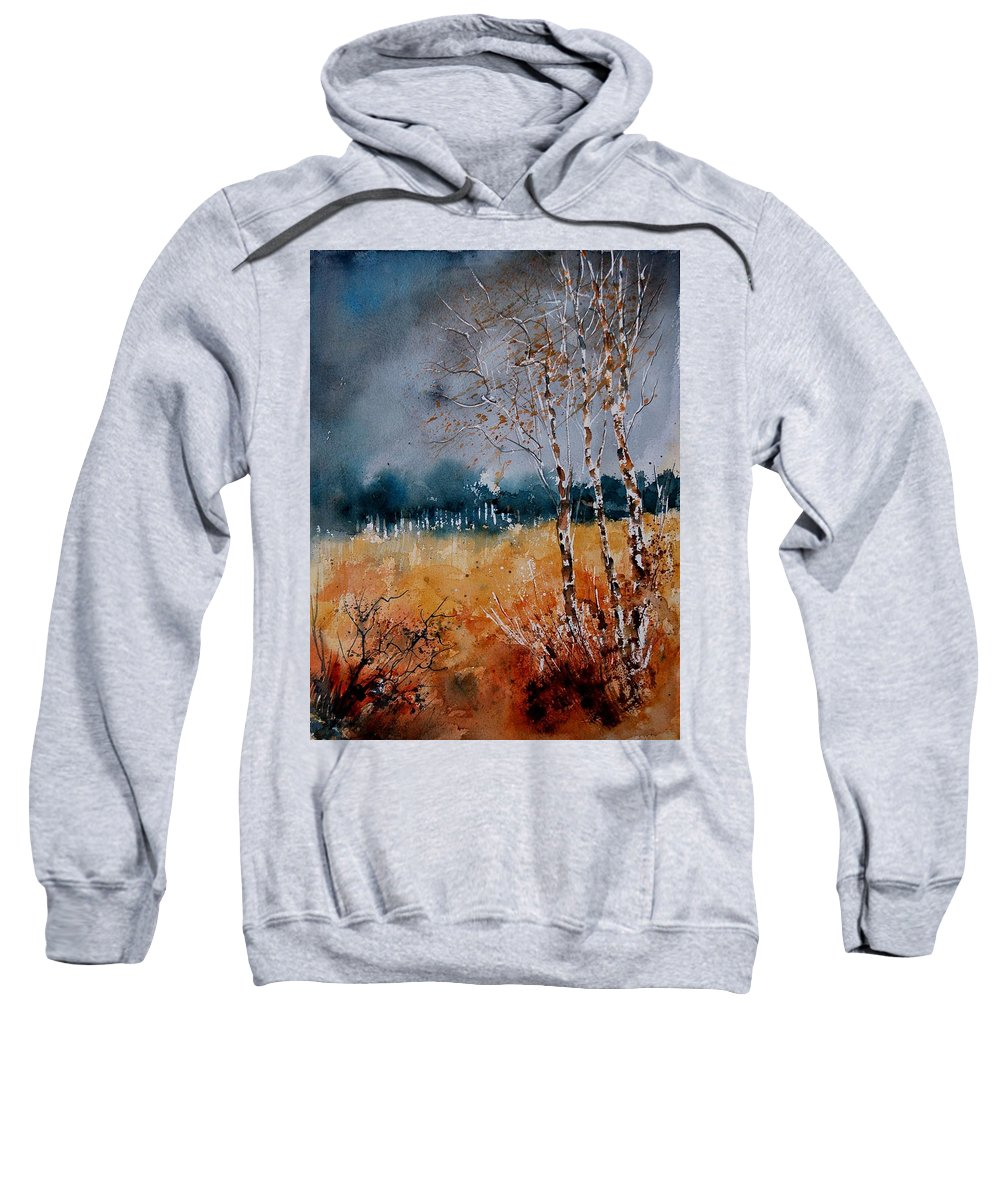 Tree Sweatshirt featuring the painting Watercolor 030308 by Pol Ledent