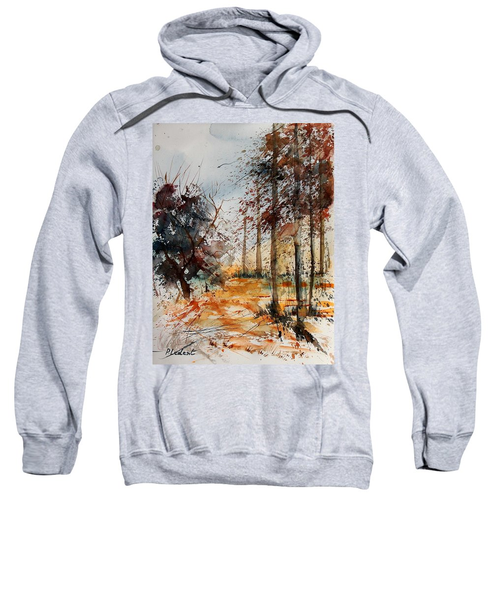 Tree Sweatshirt featuring the painting Watercolor 040902 by Pol Ledent
