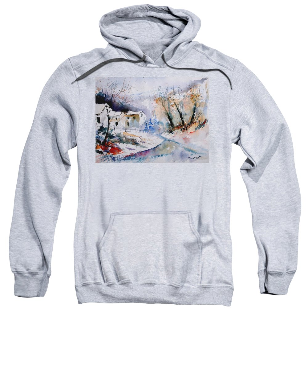 Winter Sweatshirt featuring the painting Watercolor 050408 by Pol Ledent