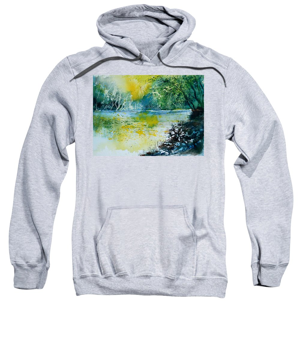 Pond Sweatshirt featuring the painting Watercolor 051108 by Pol Ledent