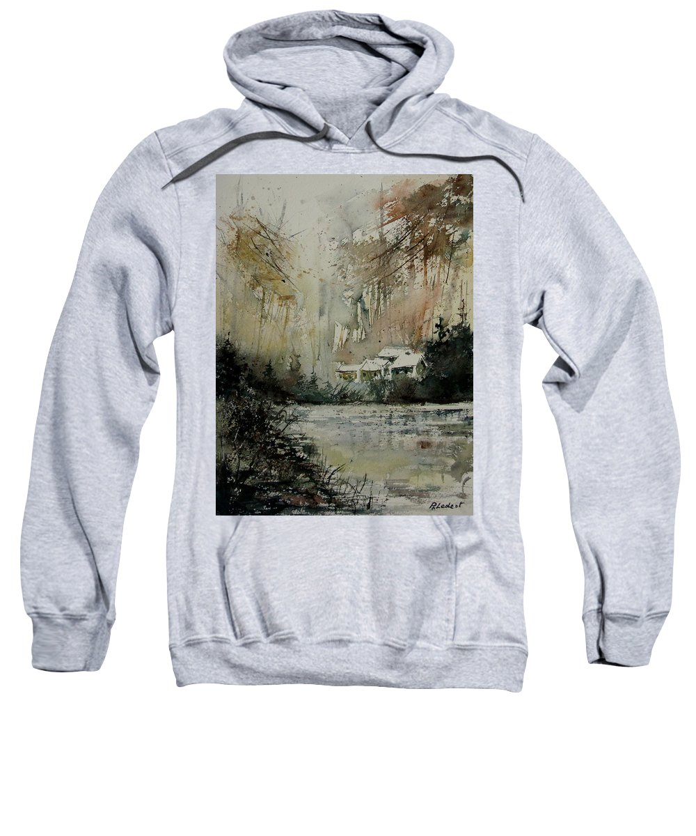 Landscape Sweatshirt featuring the painting Watercolor 070608 by Pol Ledent