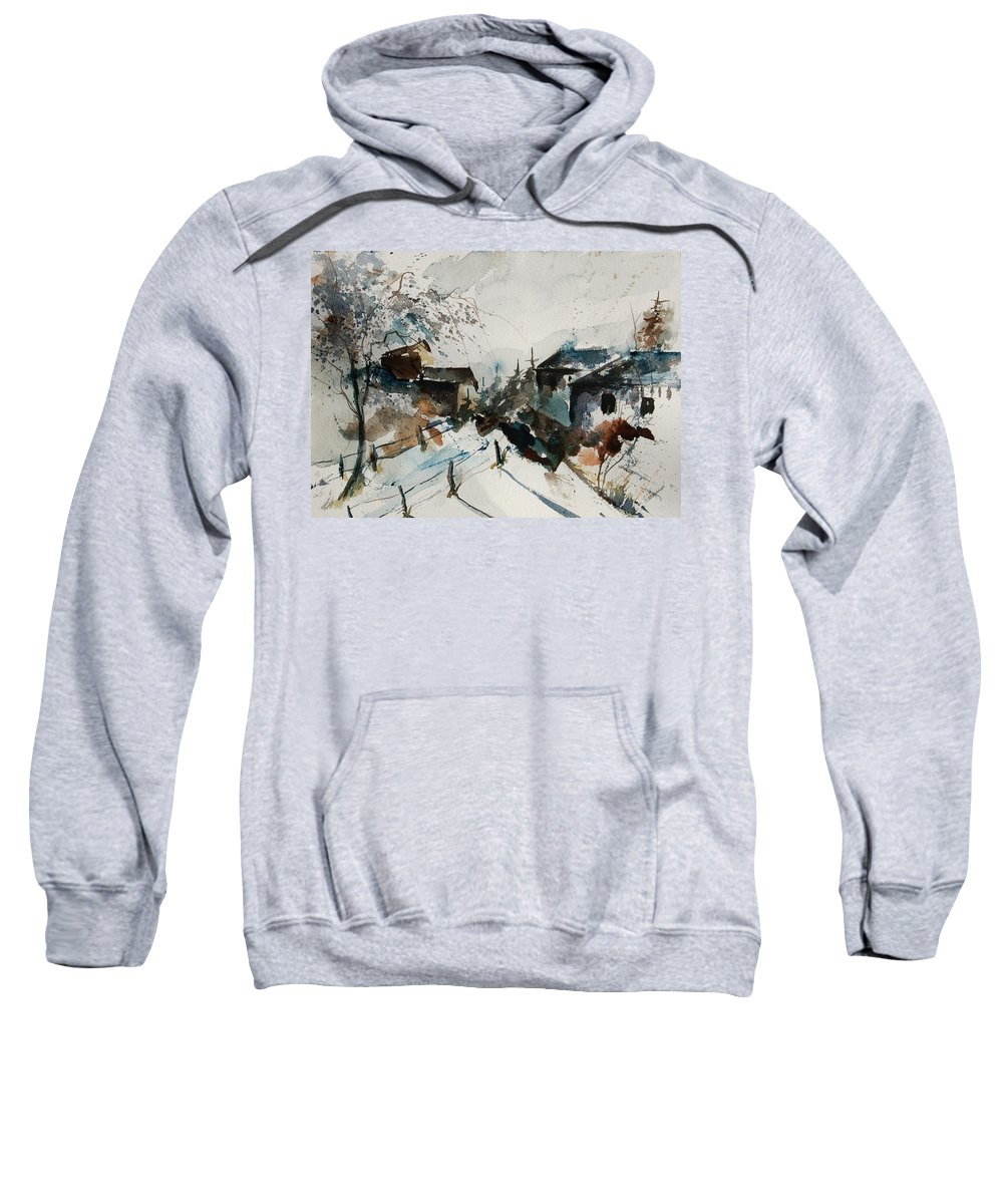 Winter Sweatshirt featuring the painting Watercolor 080707 by Pol Ledent