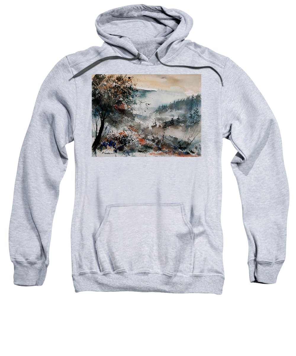 Winter Sweatshirt featuring the painting Watercolor 081108 by Pol Ledent