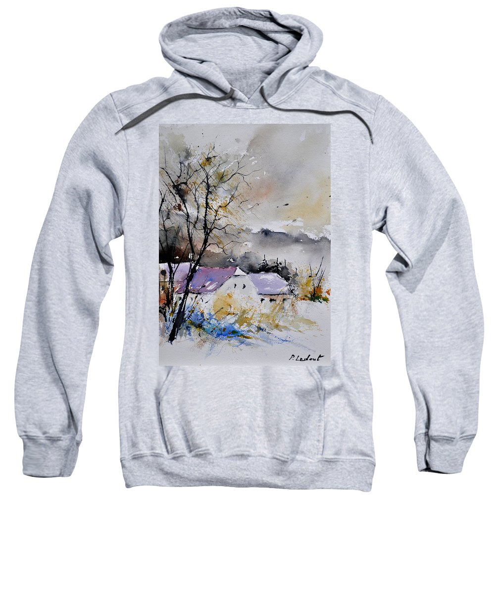 Landscape Sweatshirt featuring the painting Watercolor 112012 by Pol Ledent