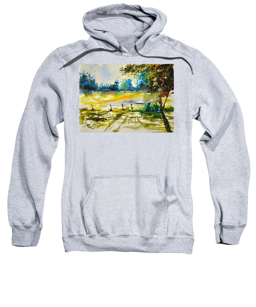 Landscape Sweatshirt featuring the painting Watercolor 112040 by Pol Ledent