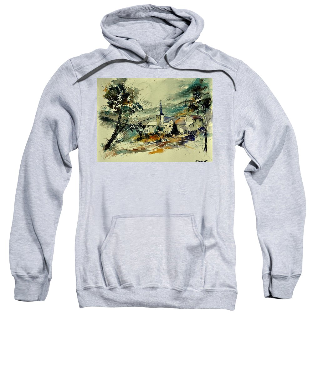 Landscape Sweatshirt featuring the painting Watercolor 115022 by Pol Ledent