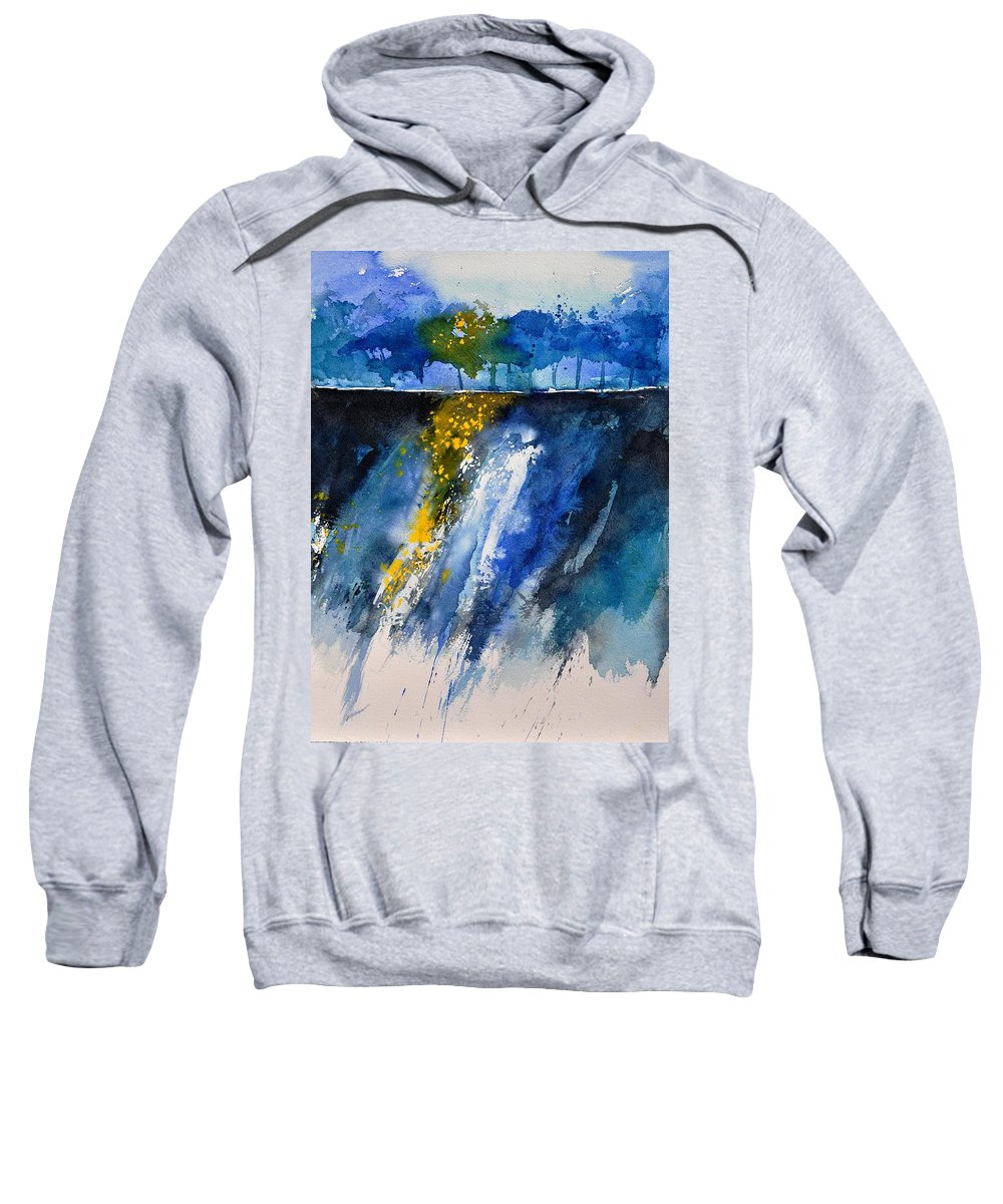 Abstract Sweatshirt featuring the painting Watercolor 119001 by Pol Ledent