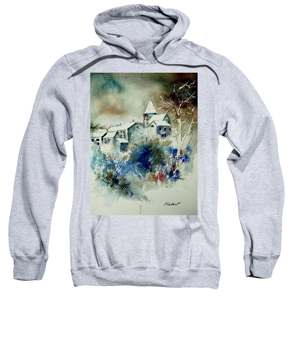 Winter Sweatshirt featuring the painting Watercolor 140408 by Pol Ledent
