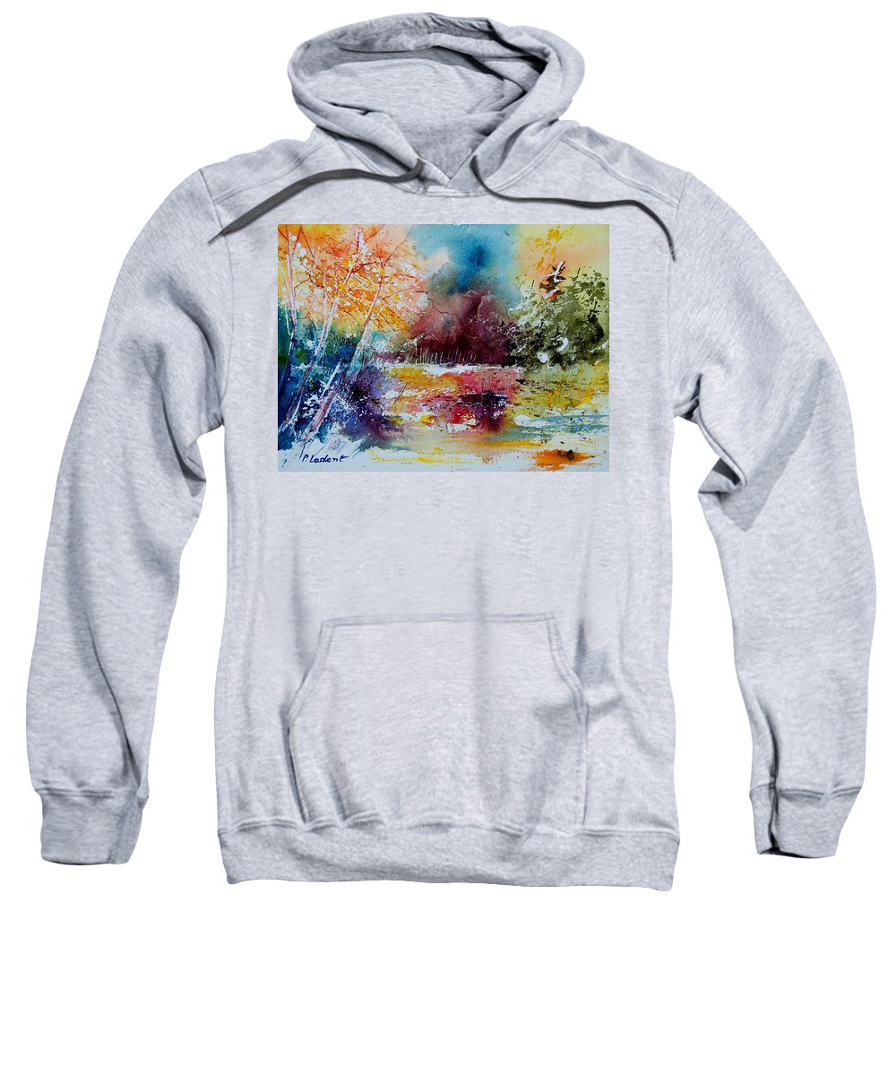 Pond Sweatshirt featuring the painting Watercolor 140908 by Pol Ledent