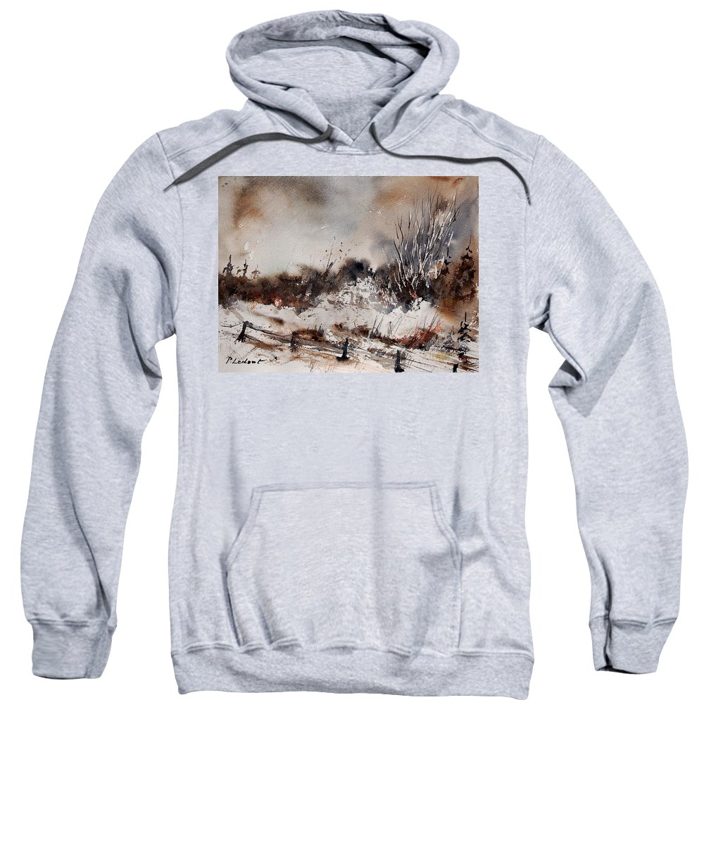 Winter Sweatshirt featuring the painting Watercolor 150708 by Pol Ledent