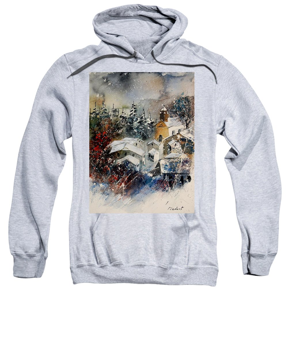 Winter Sweatshirt featuring the painting Watercolor 160908 by Pol Ledent
