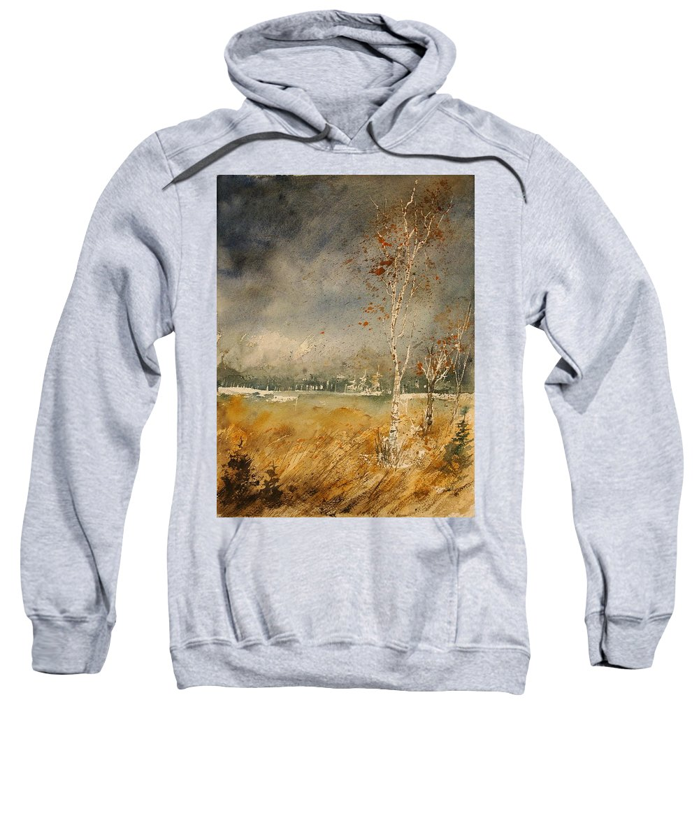 Tree Sweatshirt featuring the painting Watercolor 190307 by Pol Ledent