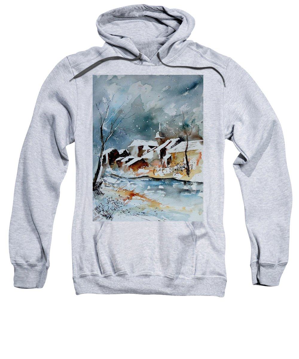 Winter Sweatshirt featuring the painting Watercolor 190607 by Pol Ledent