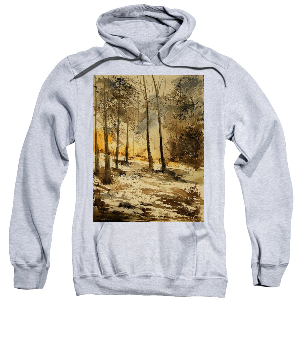 Tree Sweatshirt featuring the painting Watercolor 191106 by Pol Ledent
