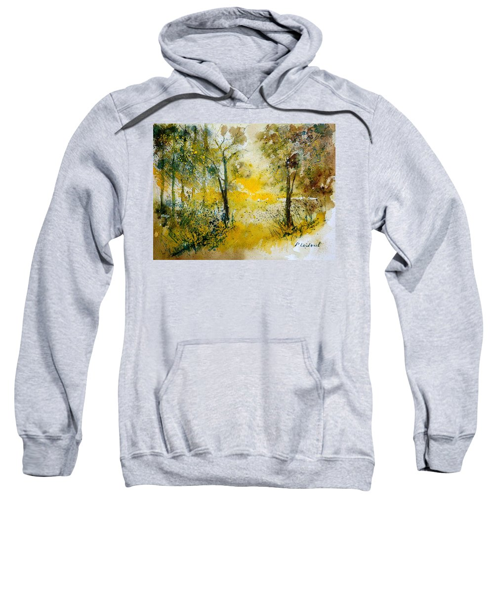River Sweatshirt featuring the painting Watercolor 210108 by Pol Ledent