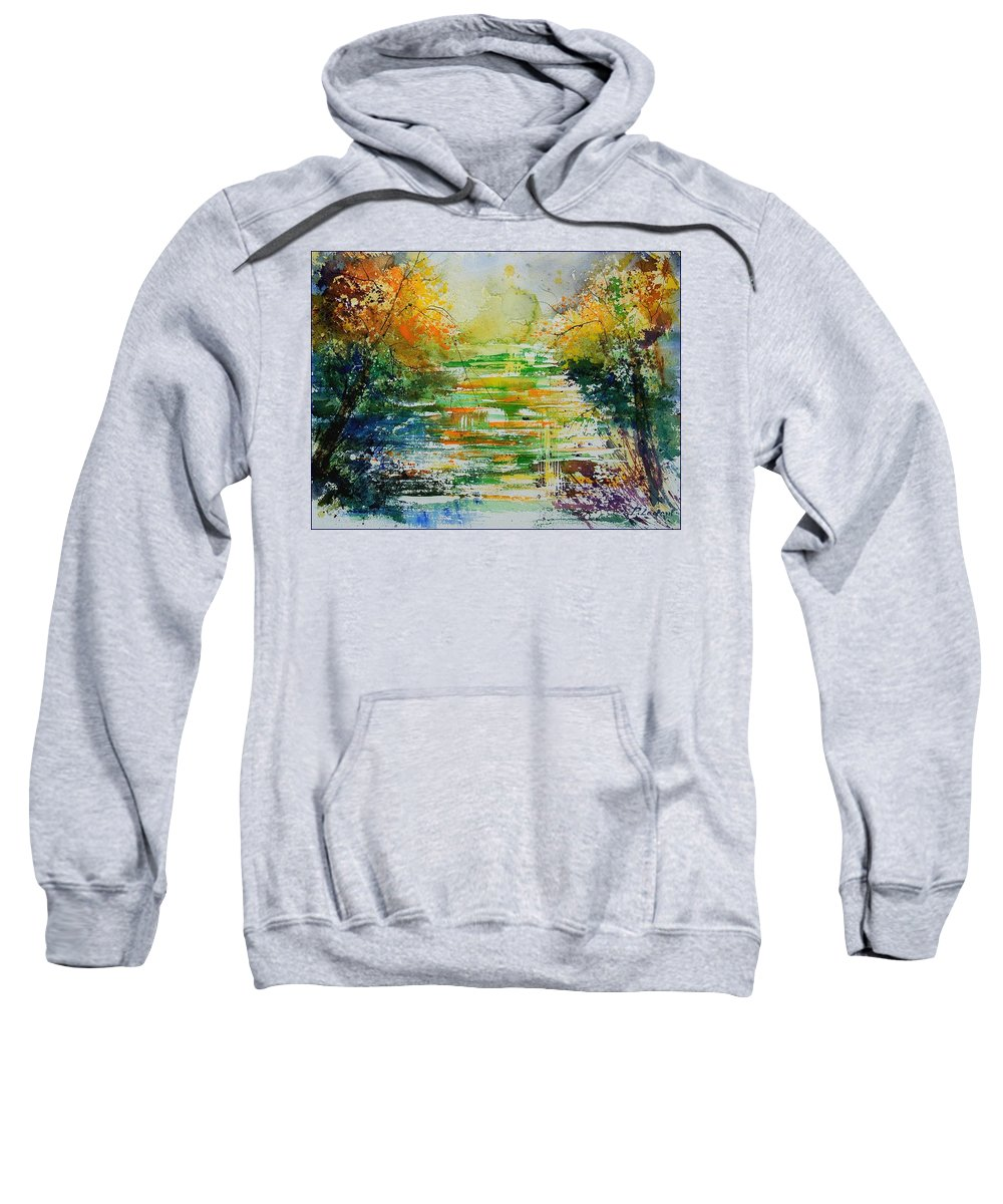 Water Sweatshirt featuring the painting Watercolor 230507 by Pol Ledent