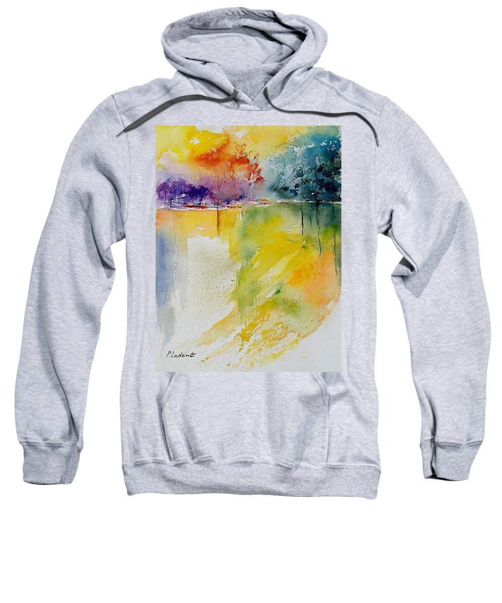 Water Sweatshirt featuring the painting Watercolor 241008 by Pol Ledent