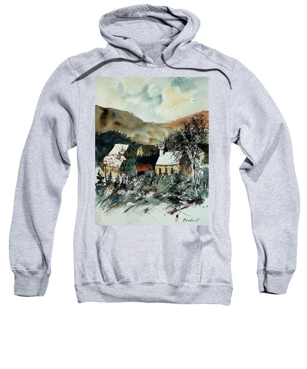 Winter Sweatshirt featuring the painting Watercolor 260107 by Pol Ledent