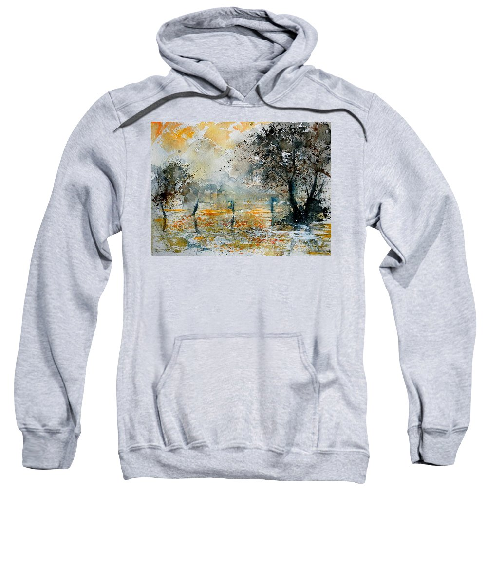 Water Sweatshirt featuring the painting Watercolor 261006 by Pol Ledent