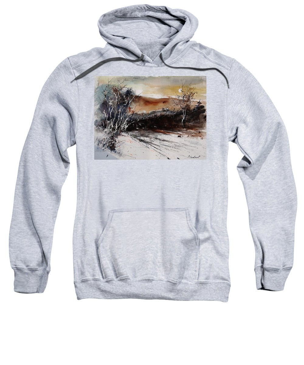 Tree Sweatshirt featuring the painting Watercolor 270908 by Pol Ledent