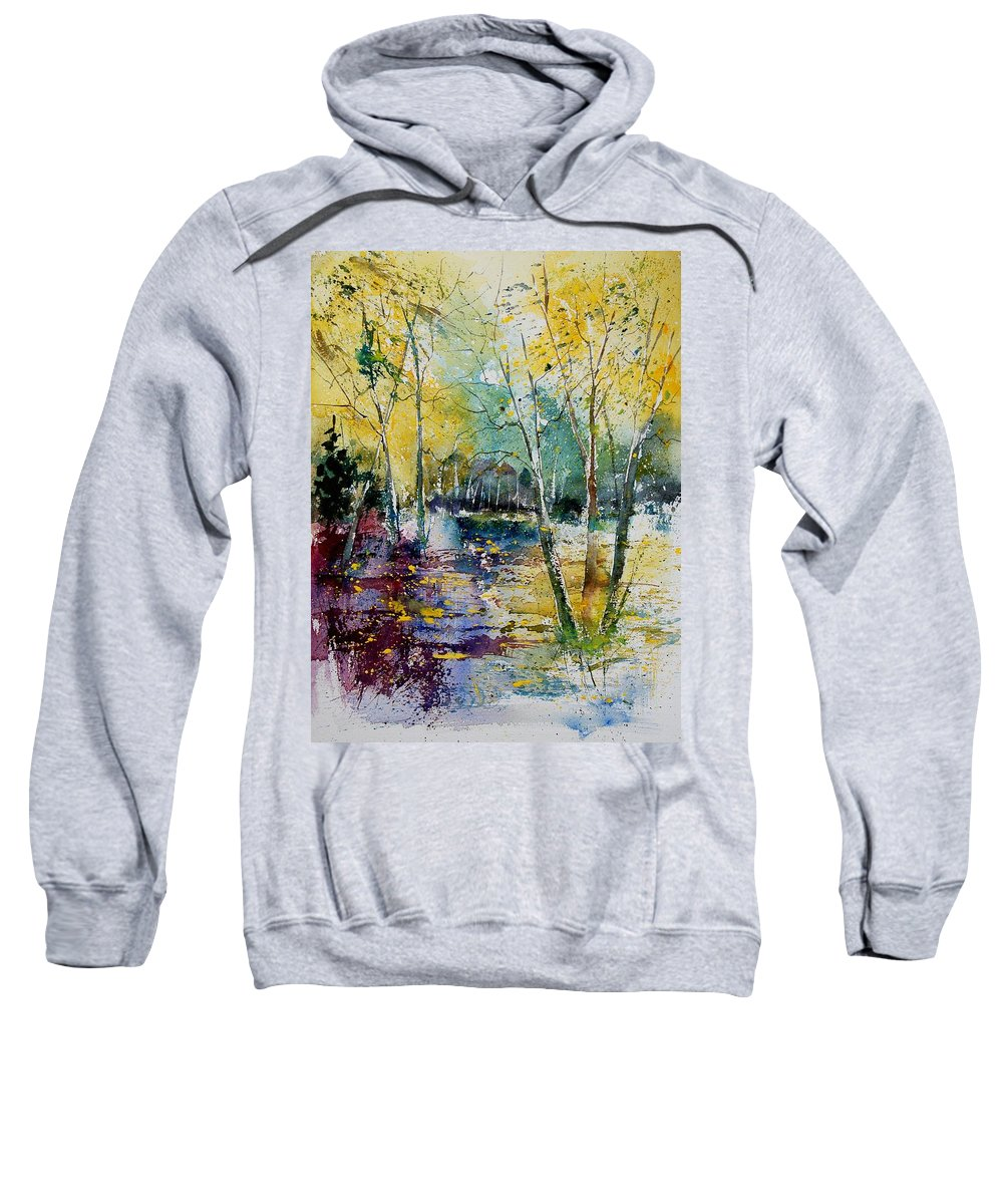 Pond Sweatshirt featuring the painting Watercolor 280809 by Pol Ledent