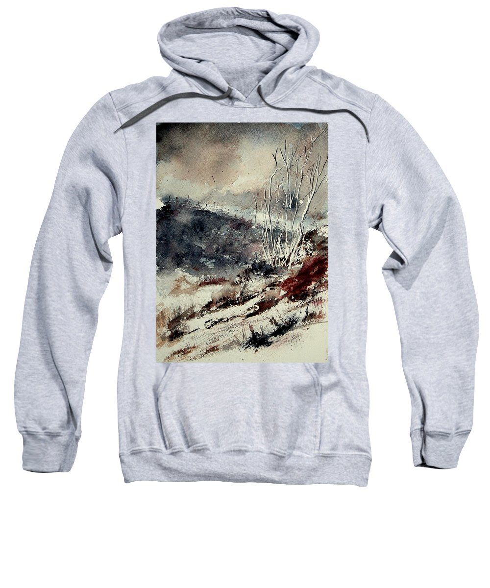 Winter Sweatshirt featuring the painting Watercolor 281207 by Pol Ledent