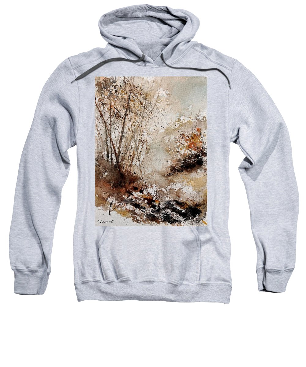 Tree Sweatshirt featuring the painting Watercolor 290808 by Pol Ledent