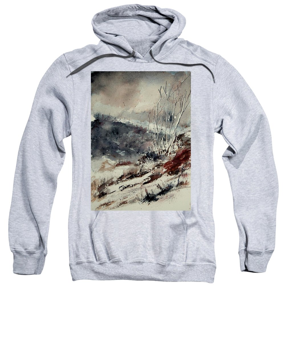 Snow Sweatshirt featuring the print Watercolor 446 by Pol Ledent