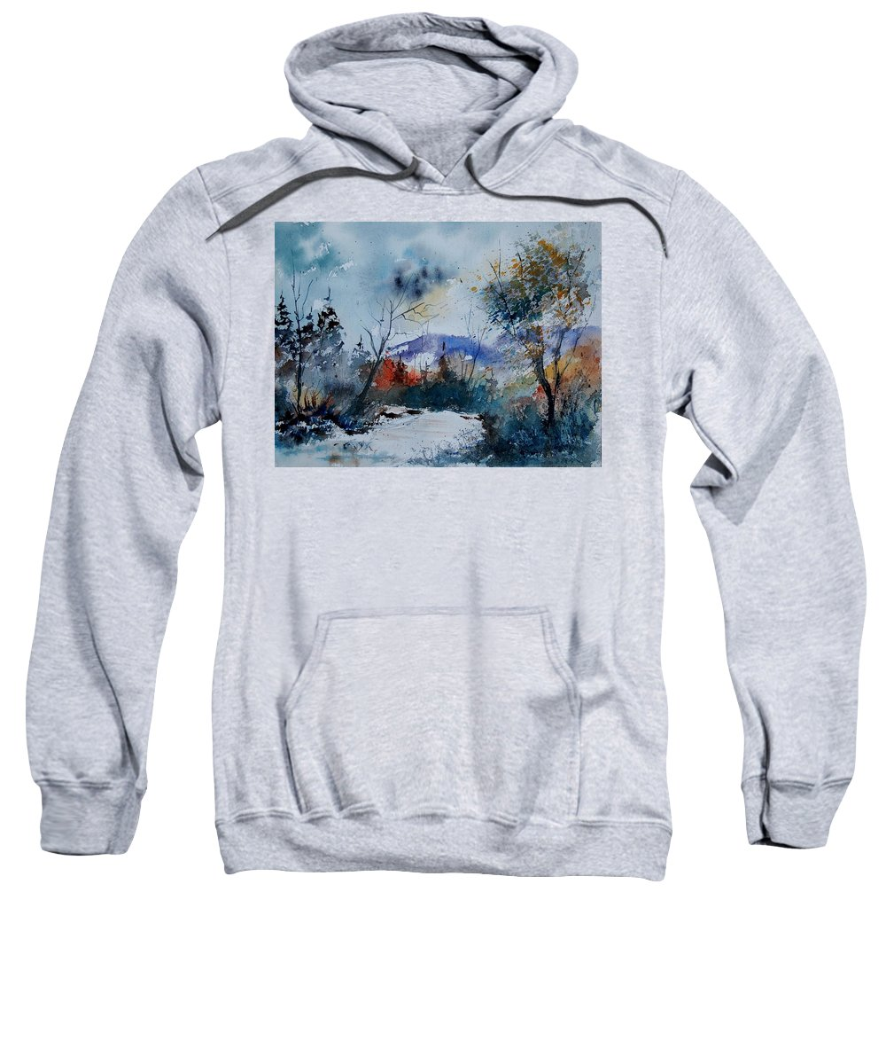 Landscape Sweatshirt featuring the painting Watercolor 802120 by Pol Ledent