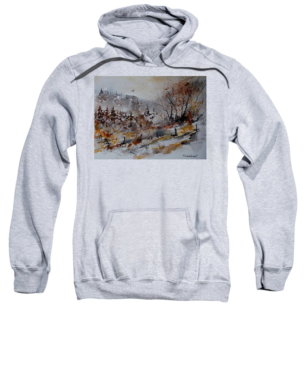 Landscape Sweatshirt featuring the painting Watercolor 900140 by Pol Ledent
