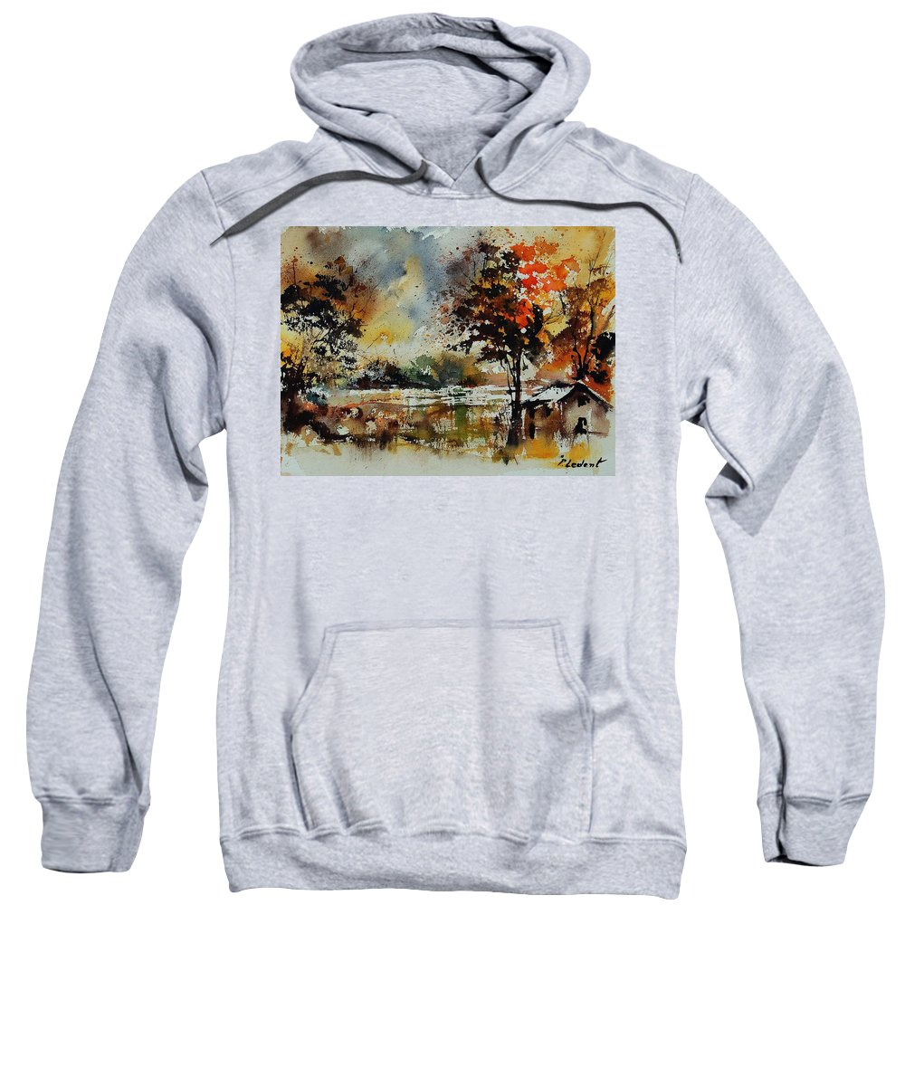 Tree Sweatshirt featuring the painting Watercolor 900152 by Pol Ledent