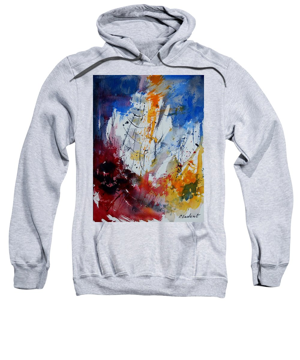 Abstract Sweatshirt featuring the painting Watercolor 901120 by Pol Ledent