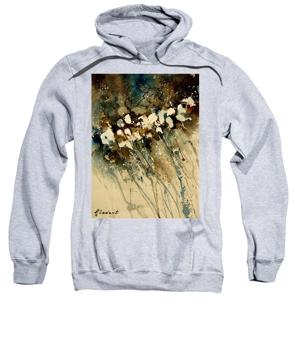 Abstract Sweatshirt featuring the painting Watercolor 901140 by Pol Ledent