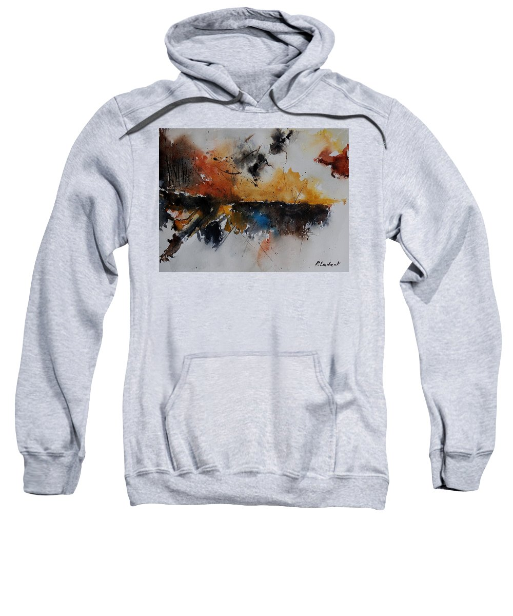 Abstract Sweatshirt featuring the painting Watercolor 901150 by Pol Ledent