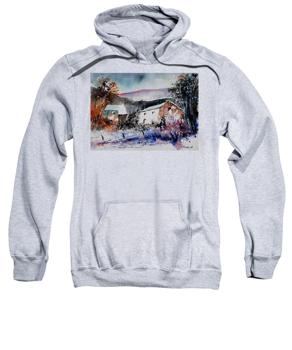 Winter Sweatshirt featuring the painting Watercolor 902080 by Pol Ledent