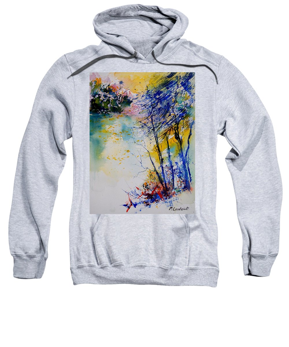Water Sweatshirt featuring the painting Watercolor 902081 by Pol Ledent