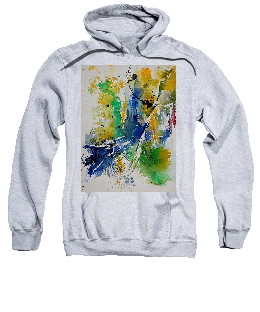 Abstract Sweatshirt featuring the painting Watercolor 902180 by Pol Ledent