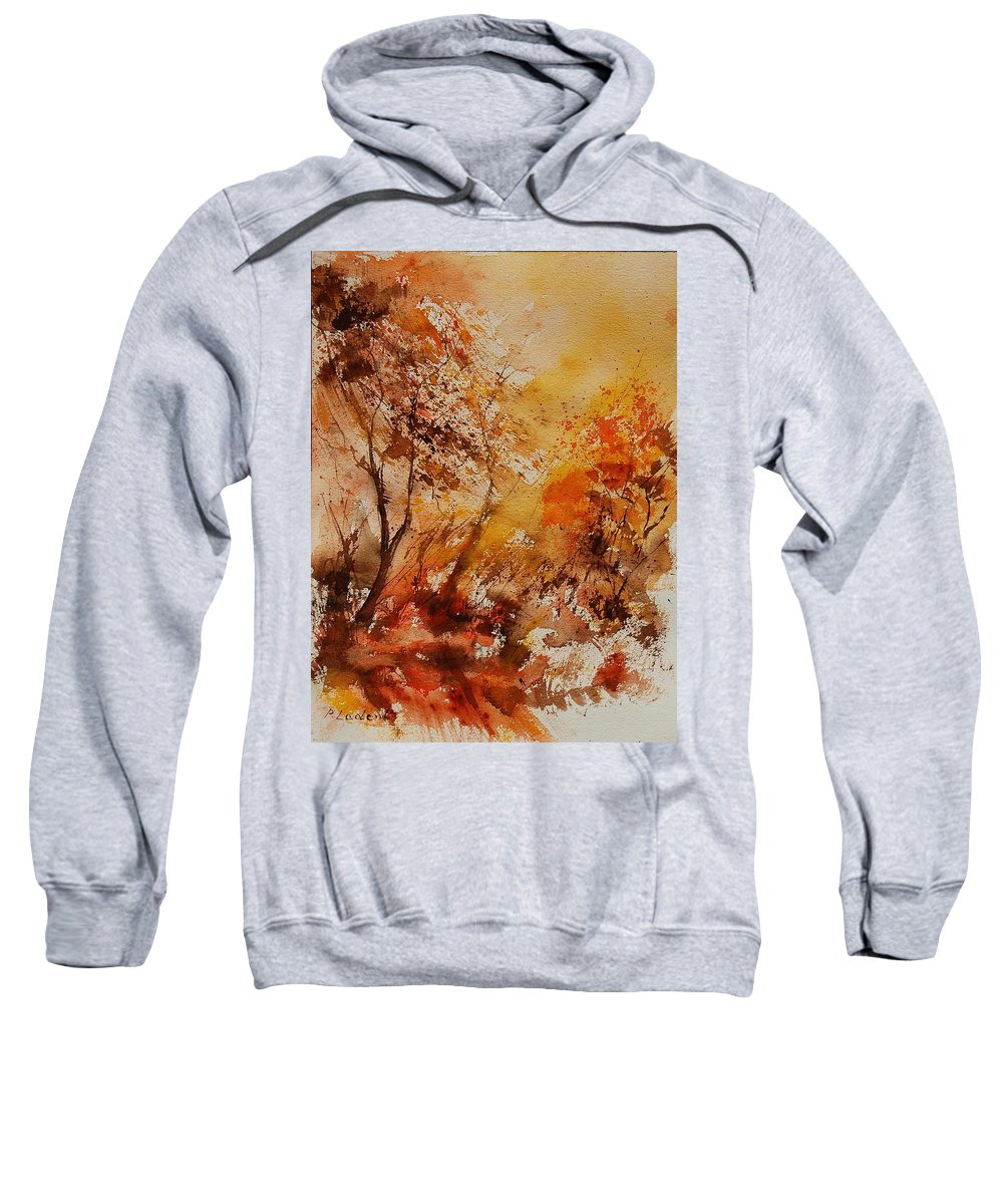 Tree Sweatshirt featuring the painting Watercolor 903071 by Pol Ledent