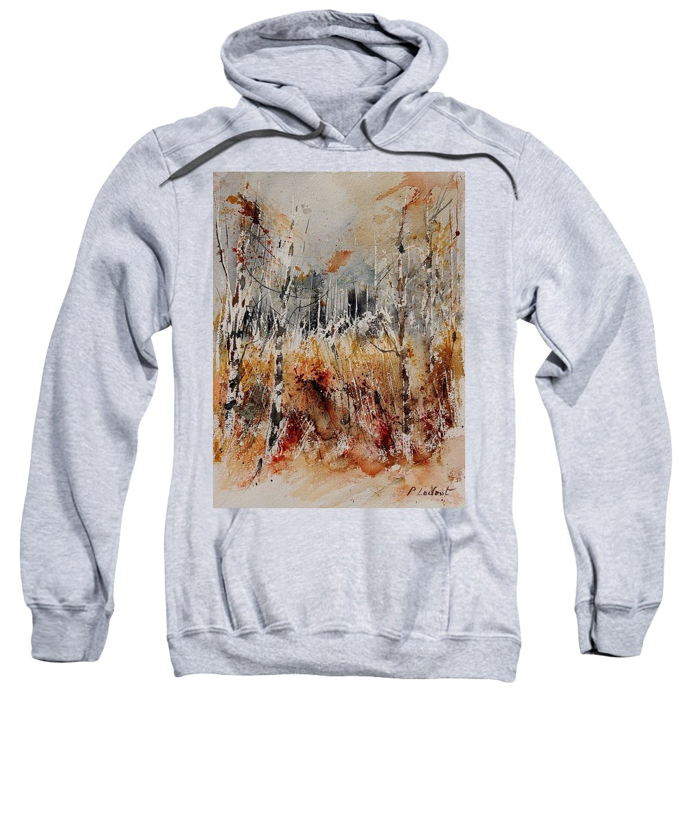 Tree Sweatshirt featuring the painting Watercolor 904012 by Pol Ledent