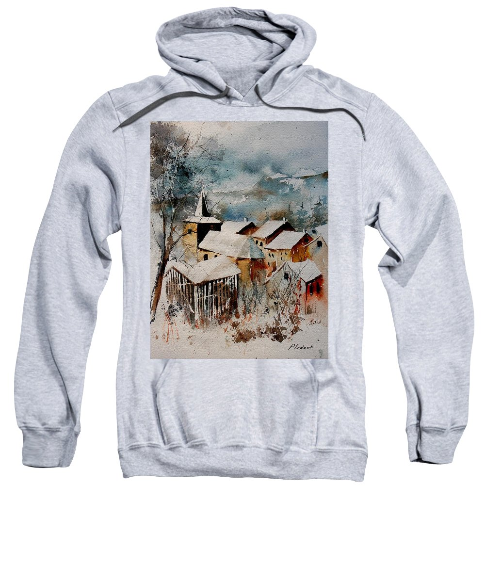 Winter Sweatshirt featuring the painting Watercolor 9040122 by Pol Ledent