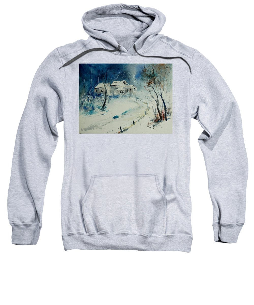 Winter Sweatshirt featuring the painting Watercolor 905001 by Pol Ledent