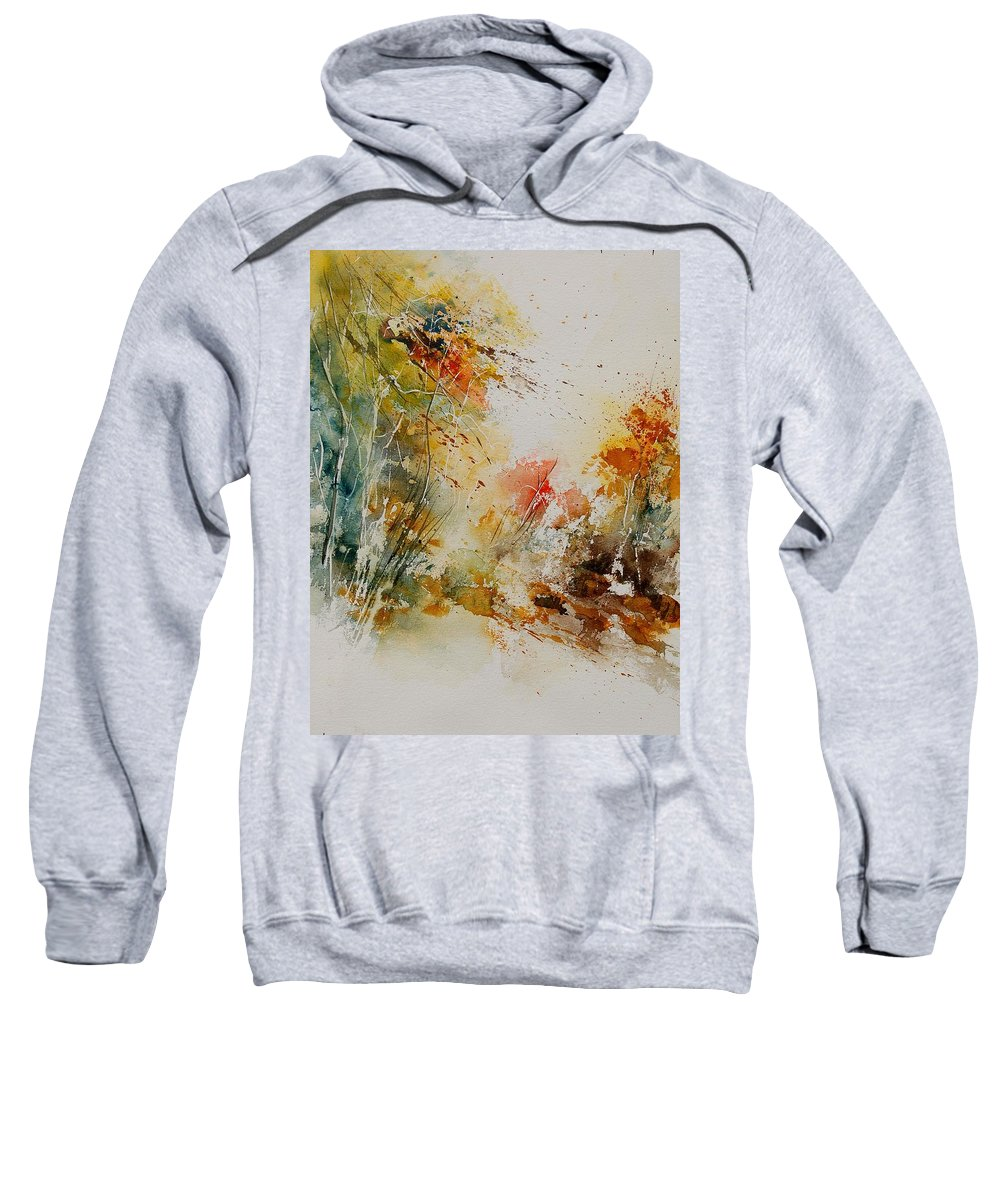 Tree Sweatshirt featuring the painting Watercolor 905022 by Pol Ledent