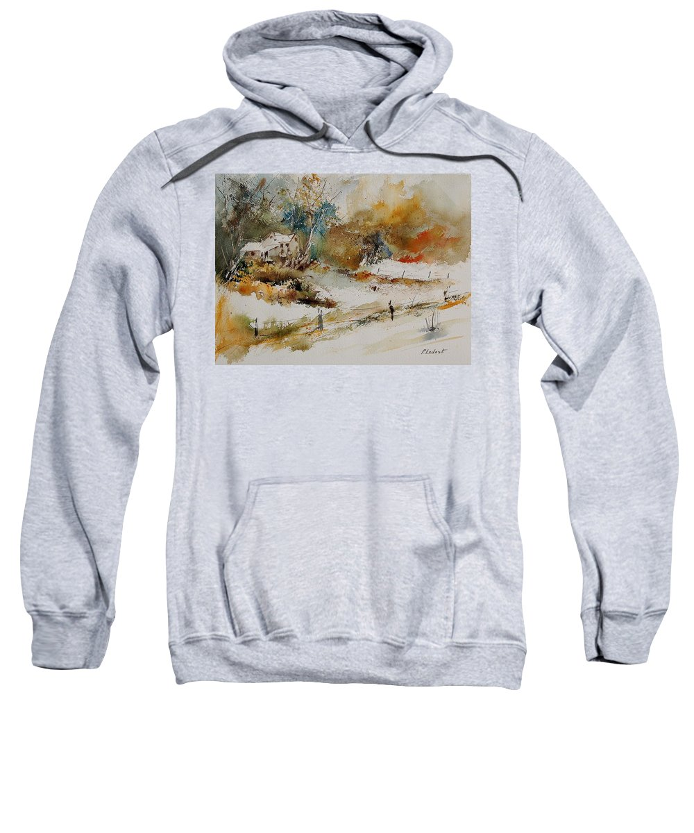 Tree Sweatshirt featuring the painting Watercolor 905061 by Pol Ledent