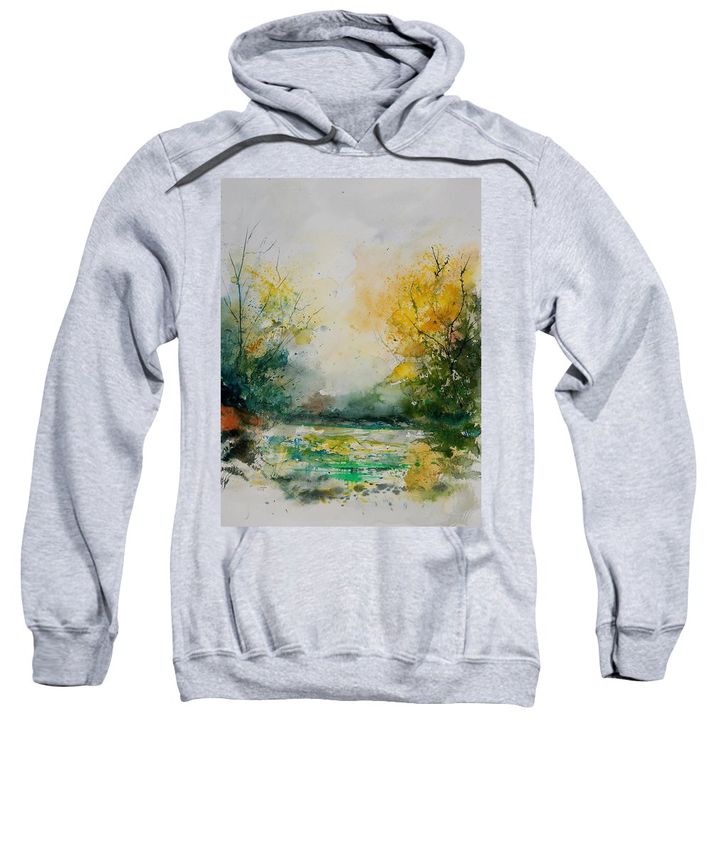 Water Sweatshirt featuring the painting Watercolor 905081 by Pol Ledent