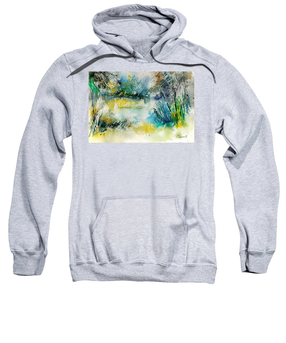 Water Sweatshirt featuring the painting Watercolor 906020 by Pol Ledent