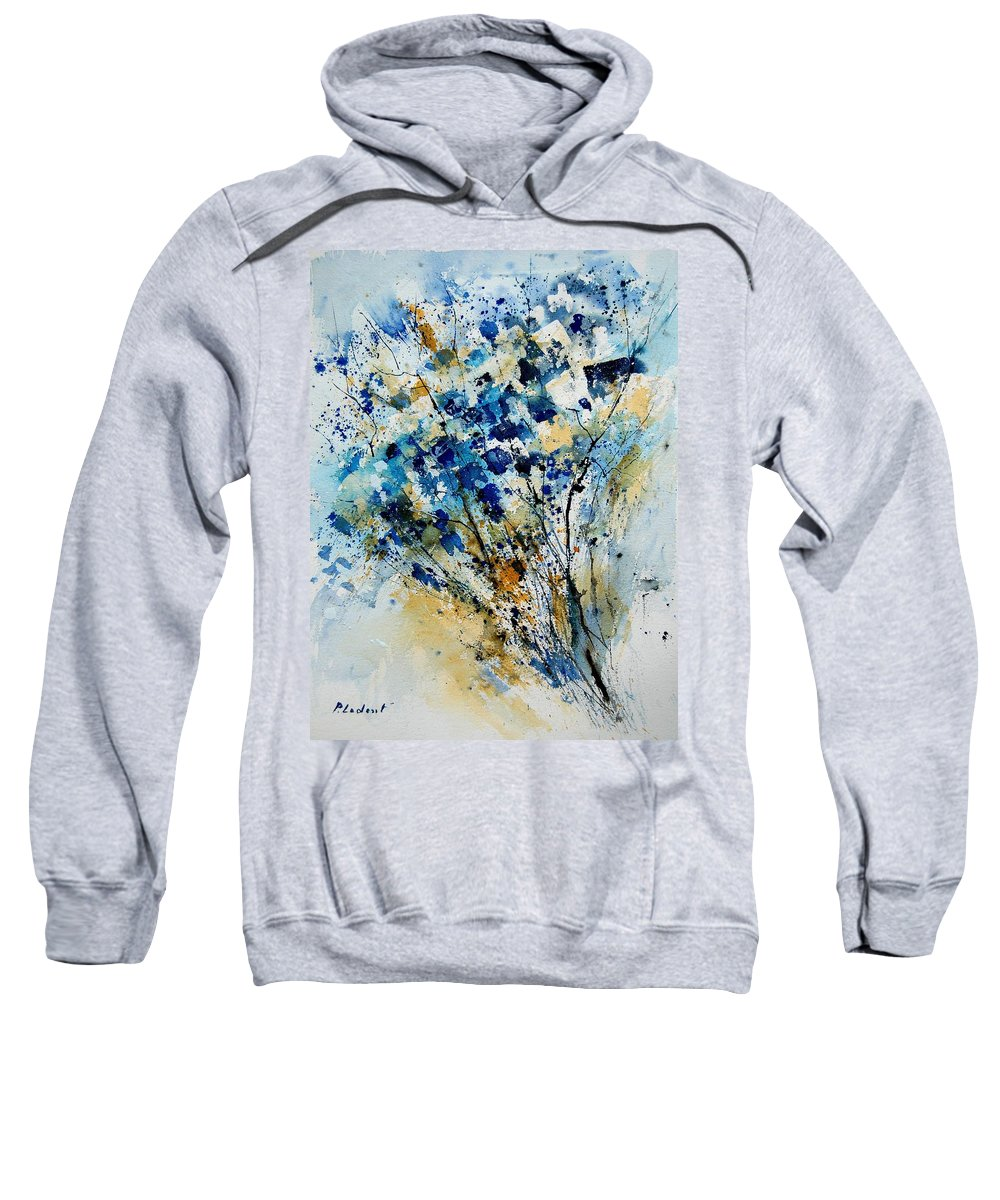 Flowers Sweatshirt featuring the painting Watercolor 907003 by Pol Ledent