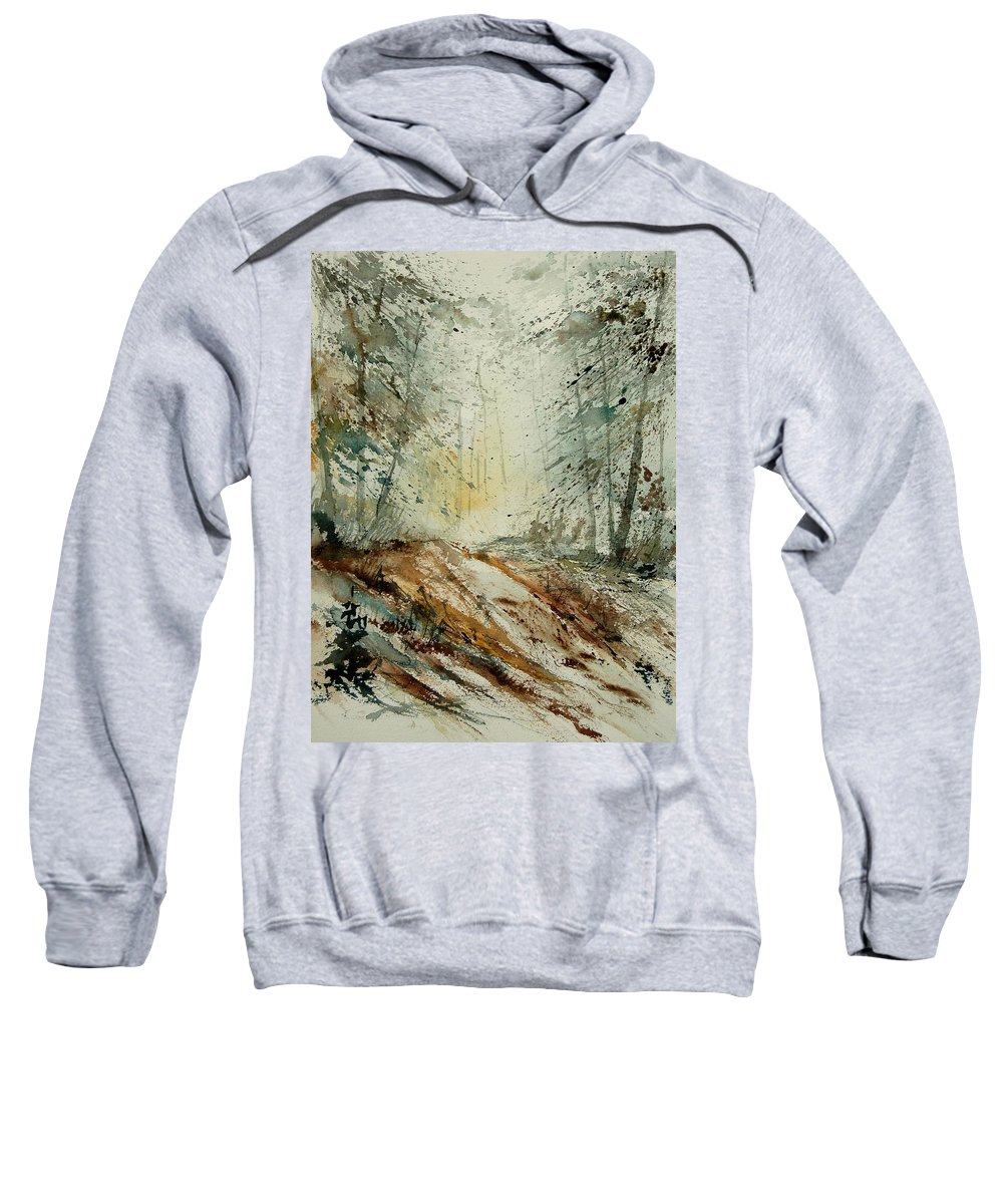 River Sweatshirt featuring the painting Watercolor 907013 by Pol Ledent