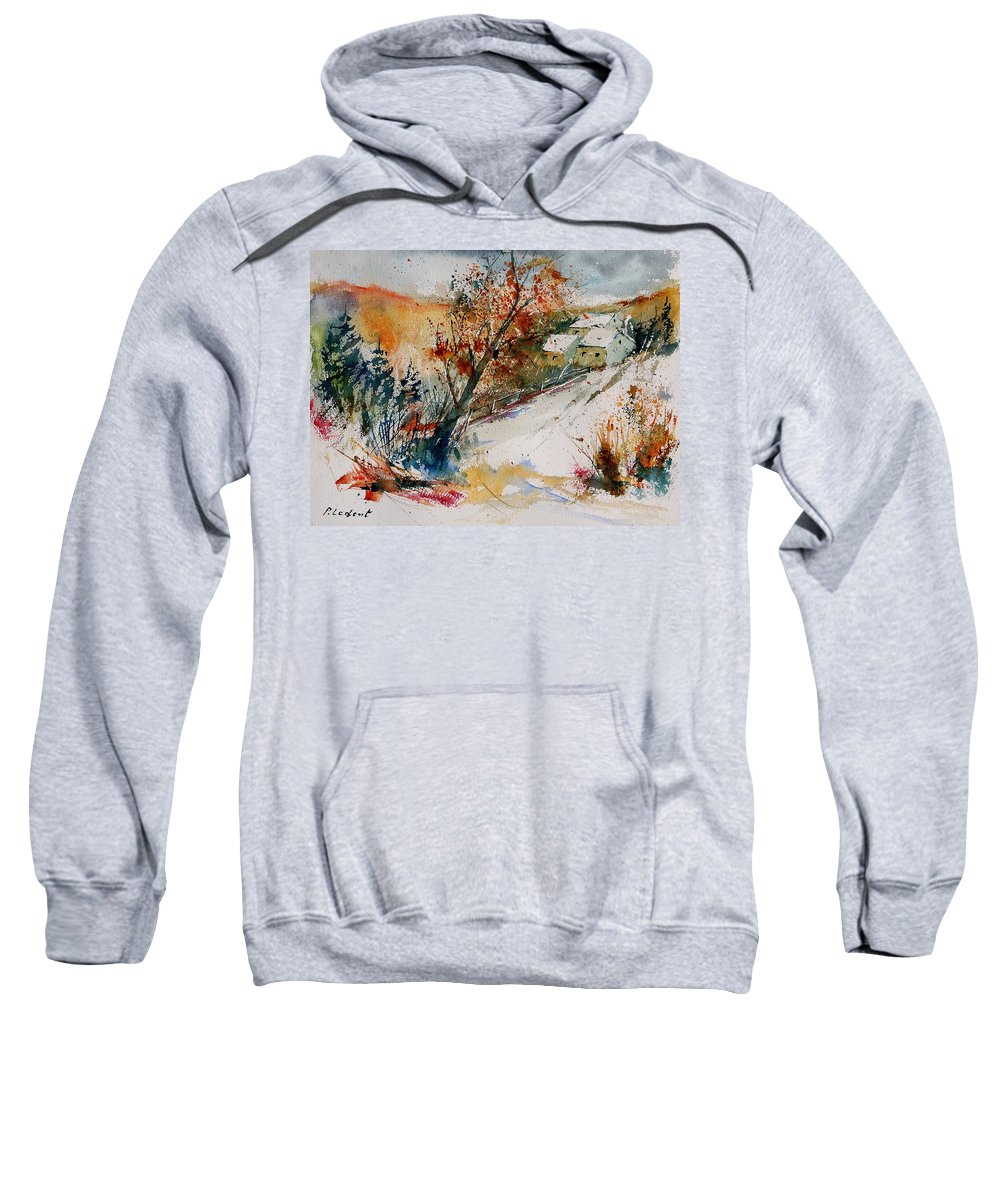 Tree Sweatshirt featuring the painting Watercolor 908002 by Pol Ledent