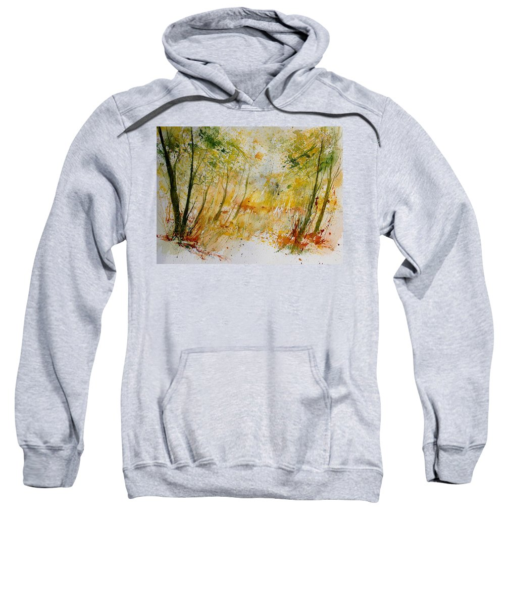 Tree Sweatshirt featuring the painting Watercolor 908012 by Pol Ledent